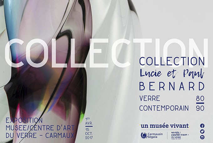 Collection Lucie et Paul Bernard, verre contemporain 80-90