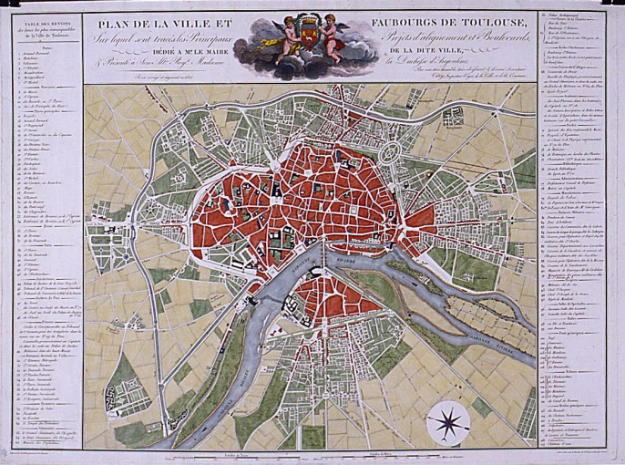 Toulouse à travers les plans anciens
